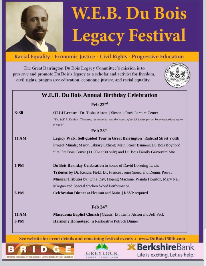 W.E.B. DuBois Annual Birthday Celebration