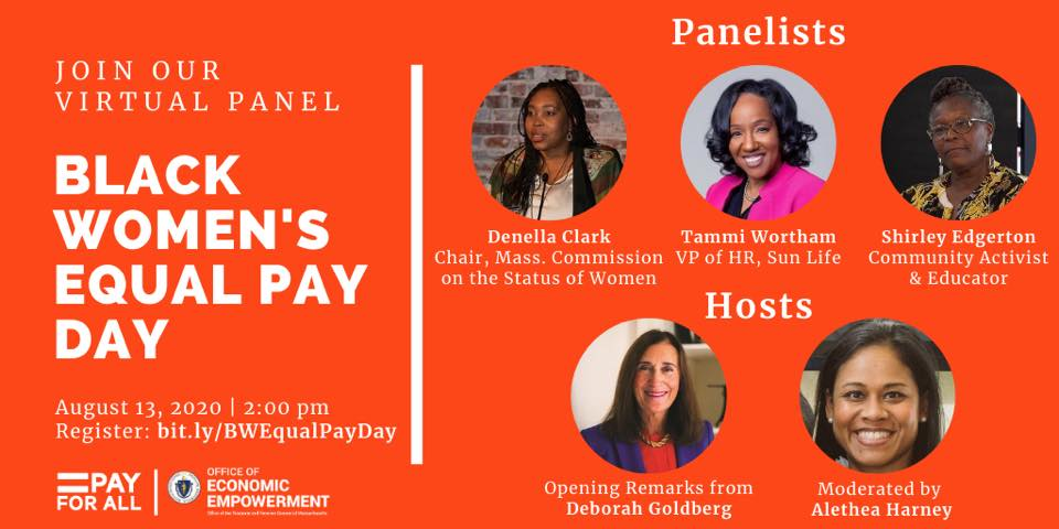 Black Women's Equal Pay Day – August 13, 2020 at 2 PM