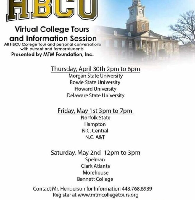HCBU announces virtual tours of twelve colleges and universities